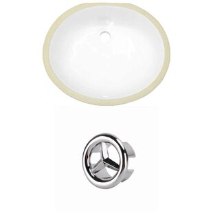 CUPC Ceramic Oval Undermount Bathroom Sink with Overflow by Royal Purple Bath Kitchen
