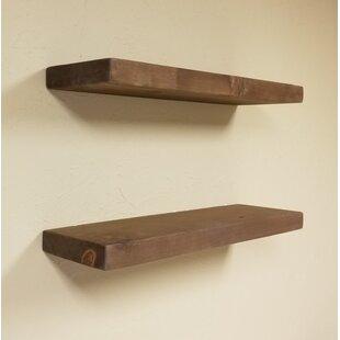 Tatianna Wood Floating Shelf Set Of 2