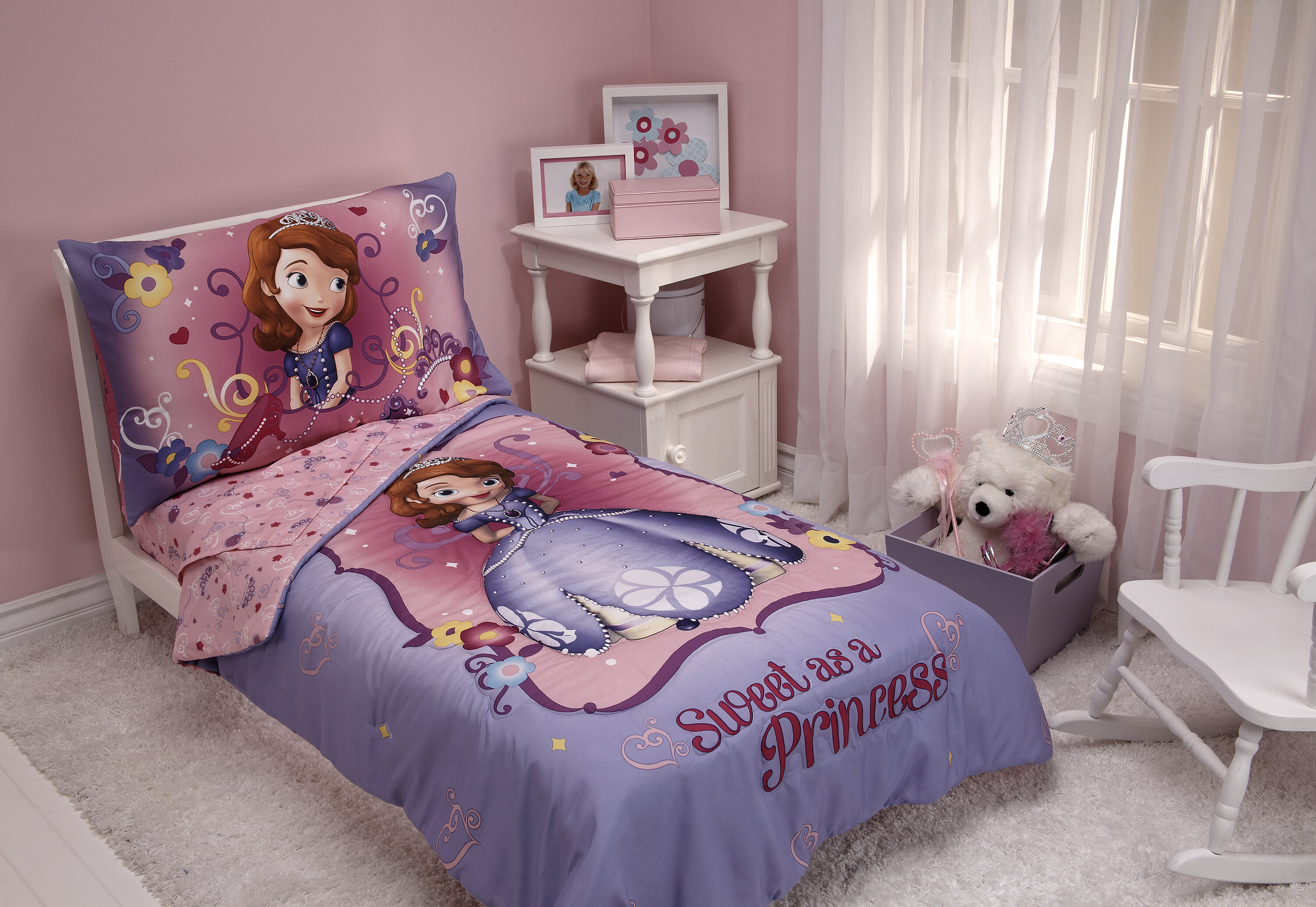 Disney Sweet as a Princess 4 Piece Sofia the First Toddler Bedding ...