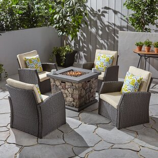 Havana 5 Piece Multiple Chairs Seating Group with Cushions