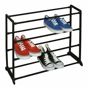 Inexpensive 4-Tier 12 Pair Shoe Rack By Sunbeam