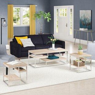 Anchondo 3 Piece Coffee Table Set Wrought Studio