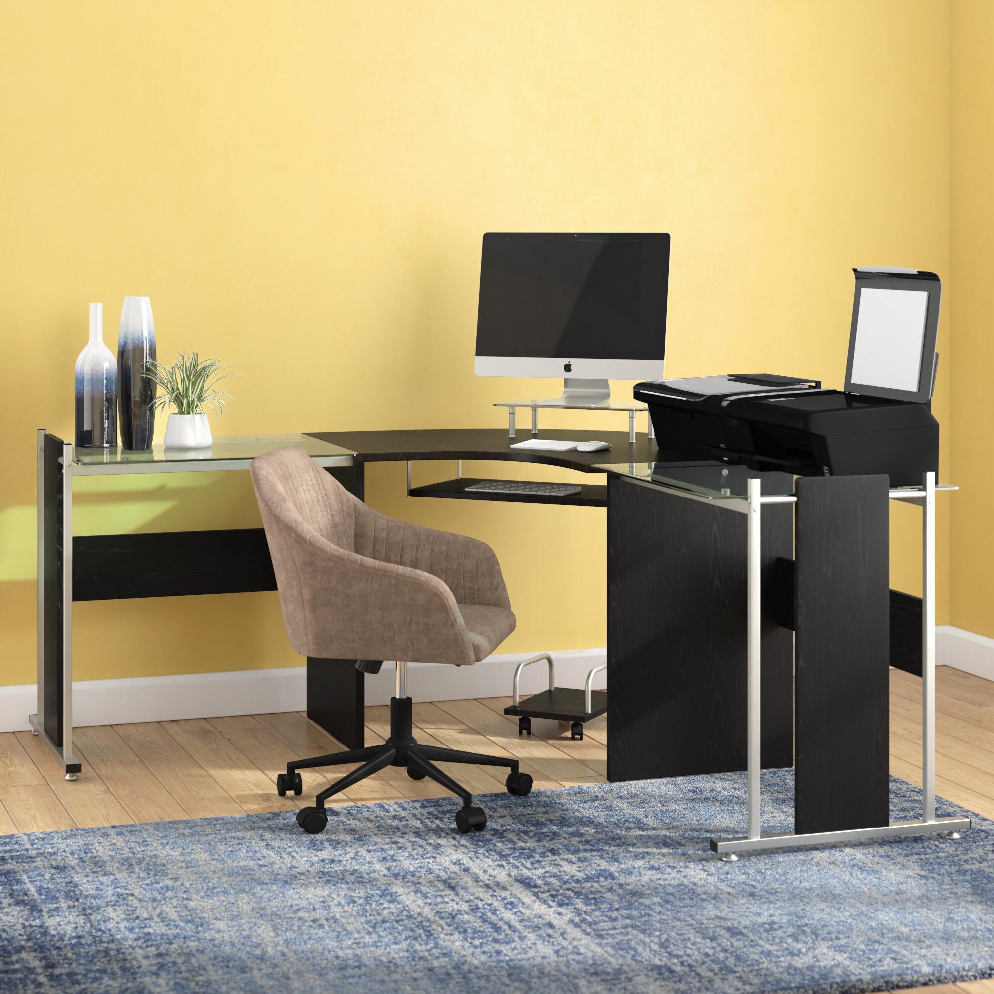 Latitude Run Freeport Modern L Shape Computer Desk Reviews