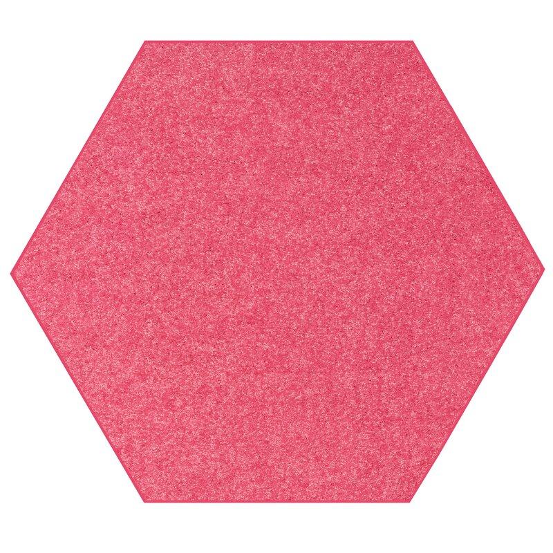 Ebern Designs Aayusha Octagon Braided Pink Area Rug Wayfair