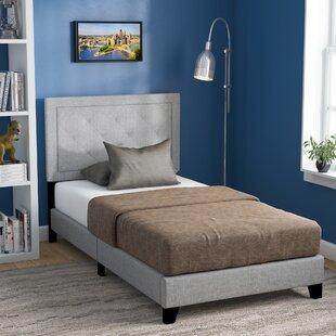 Harriet Bee Crader Twin Upholstered Panel Bed