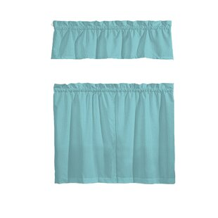 Teal Blue Kitchen Curtains