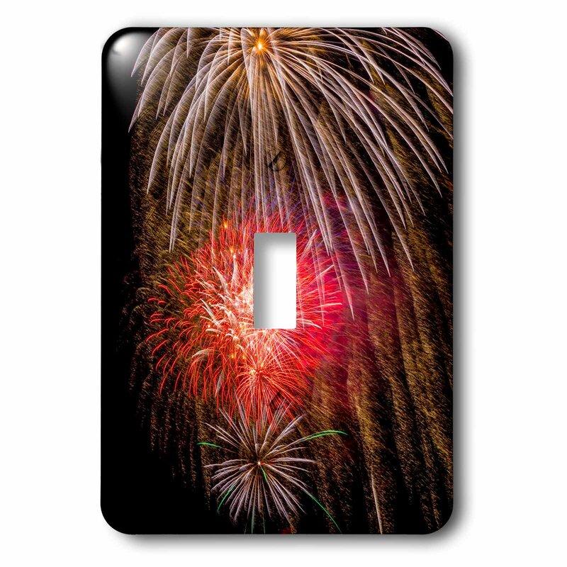 3drose Usa Ado Frisco Dillon Reservoir Fireworks Display July 4th 1 Gang Toggle Light Switch Wall Plate Wayfair