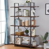 Cline 70.8 H x 48'' W Steel Etagere Bookcase by 17 Stories