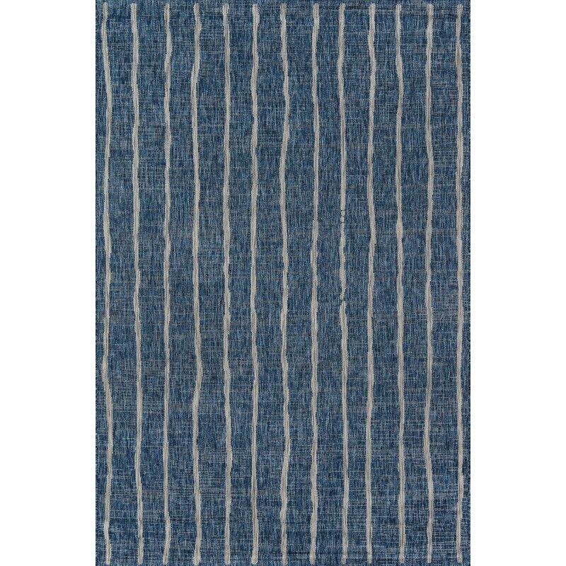 Novogratz Sicily Striped Blue White Indoor Outdoor Area Rug Reviews Wayfair