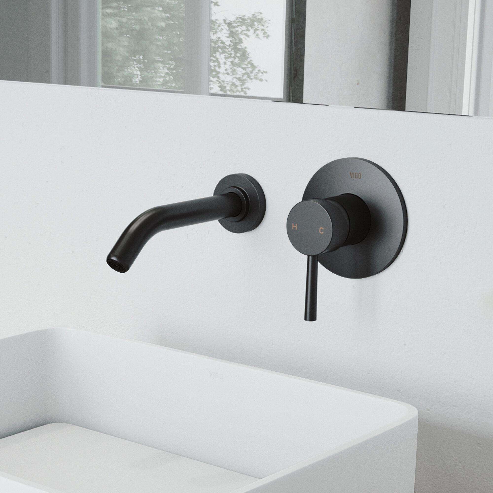 Vigo Olus Wall Mounted Bathroom Faucet Reviews Wayfair