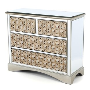 Sheila Mirrored 4 Drawer Chest