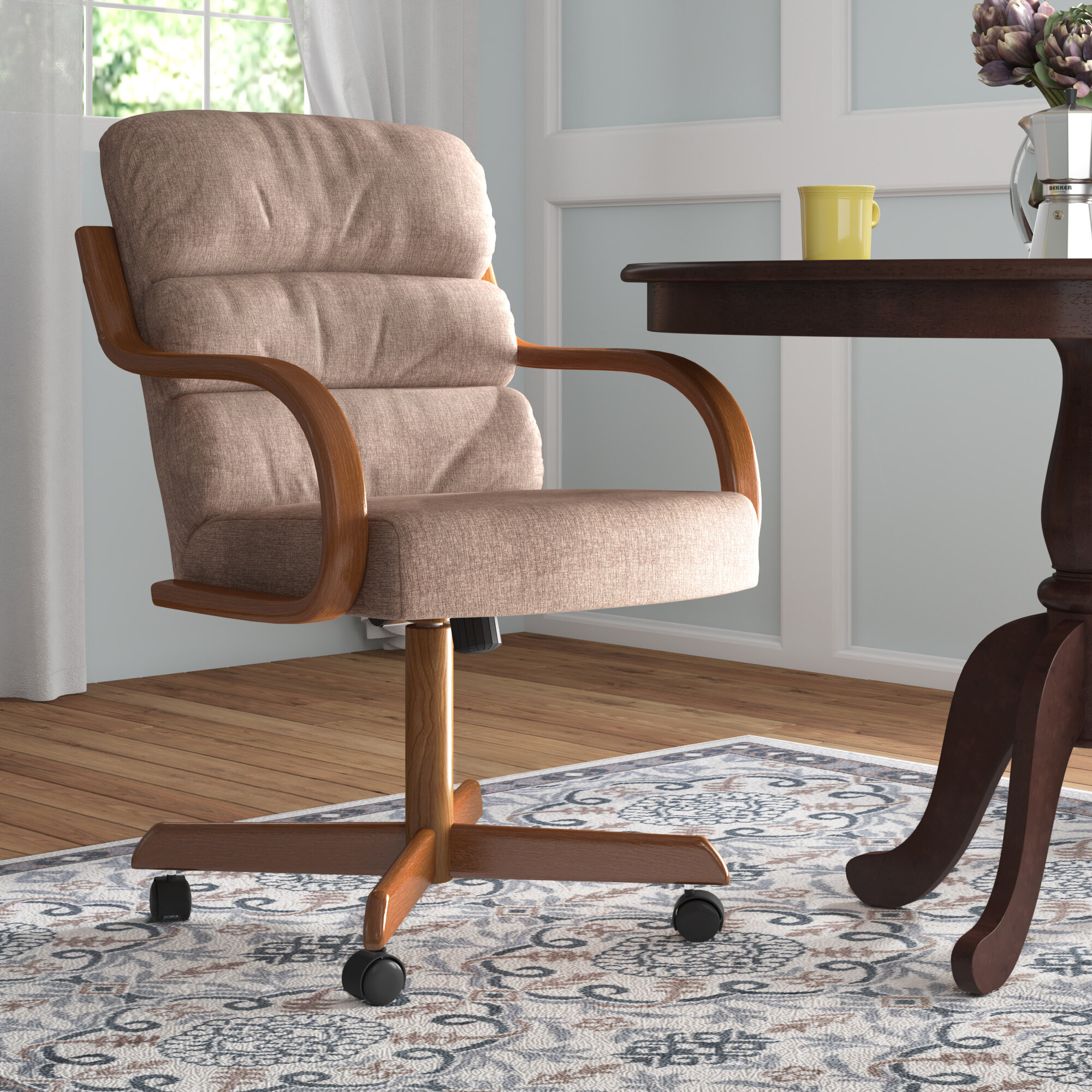 Kitchen & Dining Chairs with Casters   Wayfair
