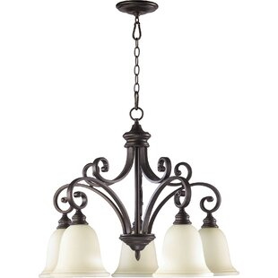 Savings Asheville 5-Light Shaded Chandelier By Andover Mills