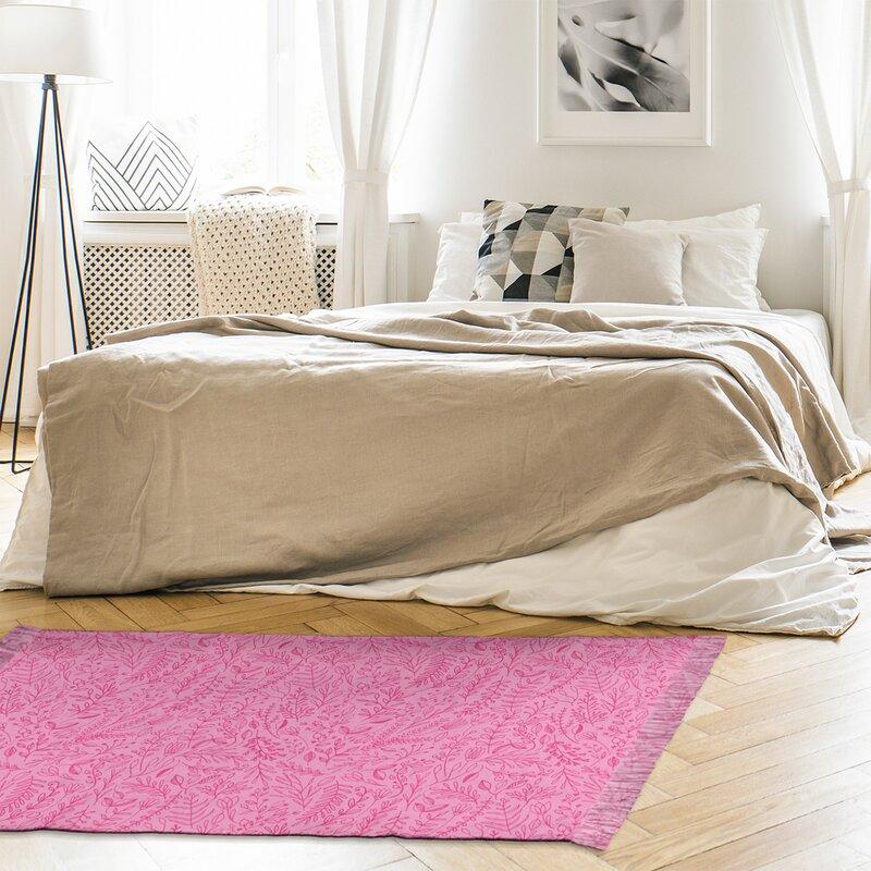 East Urban Home Mcguigan Ditsy Floral Pink Area Rug Wayfair