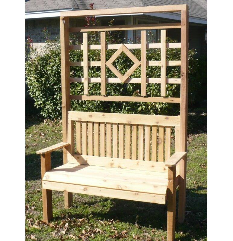 Merveilleux Millwood Pines Colby Cedar Trellis Arbor Garden Bench | Wayfair
