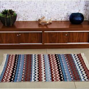 Accent Double Sided Power Loom Red/Beige Indoor/Outdoor Area Rug