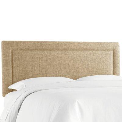 Cansler Border Upholstered Panel Headboard Size: California King, Upholstery: Zuma Linen by Brayden Studio