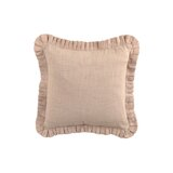 Cape Stacked Pleated Linen Throw Pillow