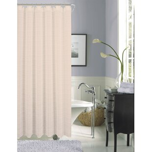Philpot Elegance Textured Stripe Sheer Single Shower Curtain