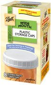 Wide Mouth Plastic Storage Caps (8 Count)