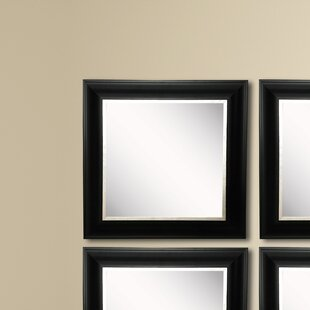 Shop For Kimzey Grand Black and Aged Silver Wall Mirror (Set of 4) ByCharlton Home