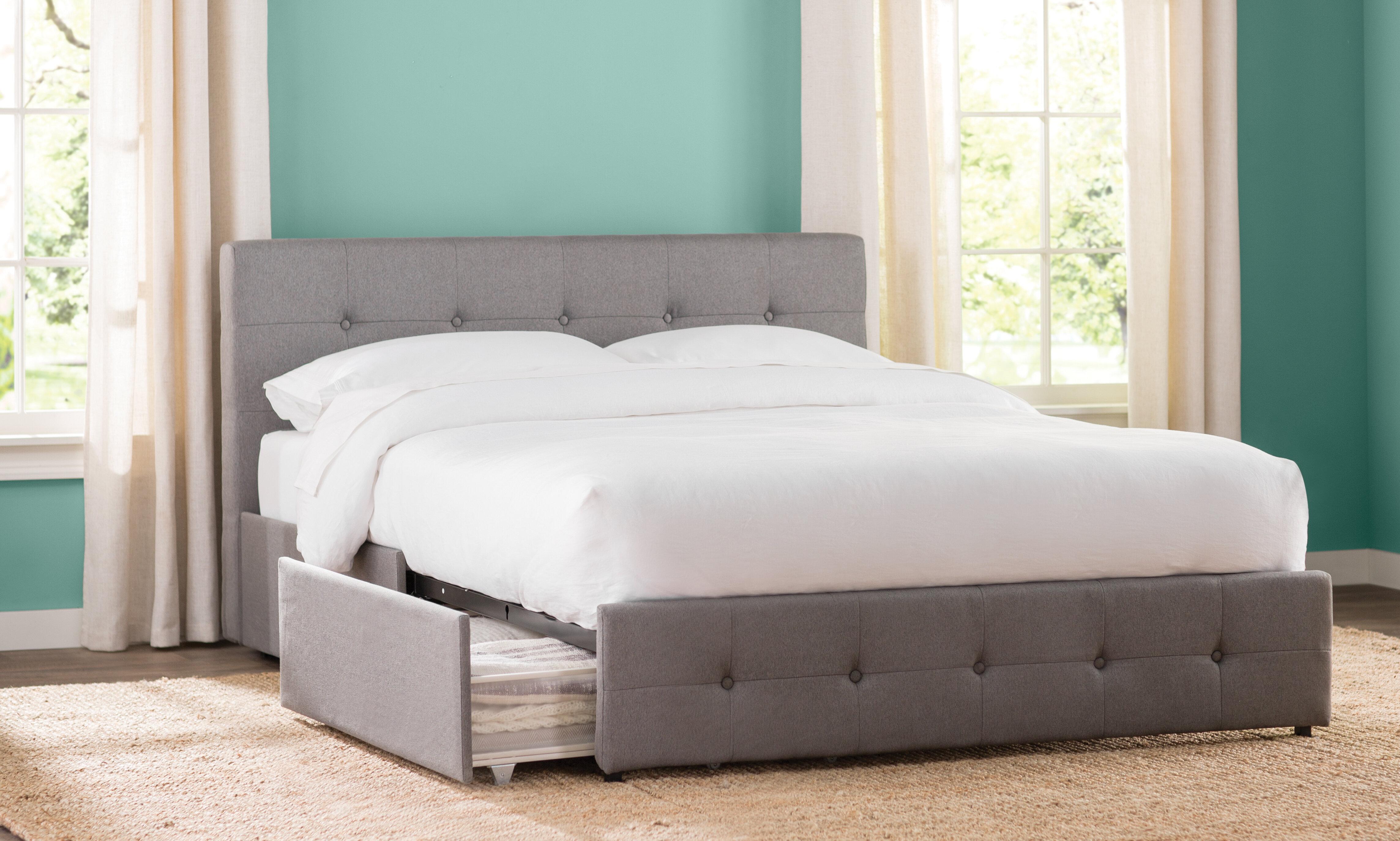Winston Porter Houchins Upholstered Storage Platform Bed u0026 Reviews | Wayfair & Winston Porter Houchins Upholstered Storage Platform Bed u0026 Reviews ...