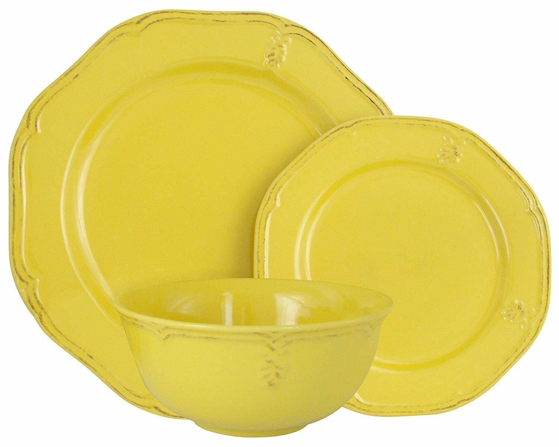 Melange Stoneware 18 Piece Dinnerware