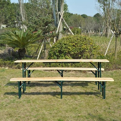 Schaefer Folding Solid Wood Picnic Table by Freeport Park Read Reviews
