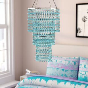 Kordell Triple Crown 1-Light Crystal Pendant by Viv + Rae