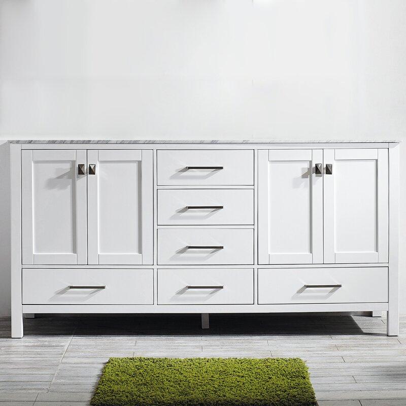 Beachcrest Home Newtown 72 Double Bathroom Vanity Set Reviews Wayfair