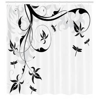 Latitude Run Allibert Bright Abstract Color For Premium Single Shower Curtain
