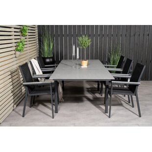 Albertine 6 Seater Dining Set By Sol 72 Outdoor