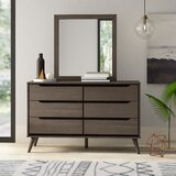 Stalter 6 Drawer Double Dresser with Mirror by Mercury Row