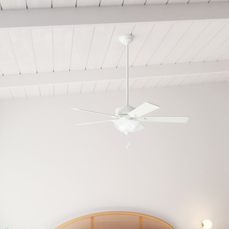 Hunter Fan 52 Swanson 5 Blade Standard Ceiling Fan With Pull Chain And Light Kit Included Reviews Wayfair