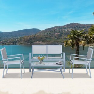 Emerson Outdoor 4 Piece Sofa Seating Group