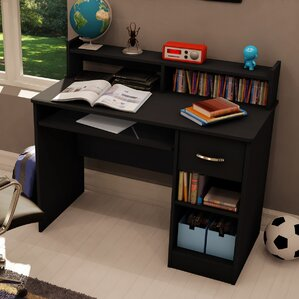 Elegant Axess 1 Drawer Computer Desk With Hutch