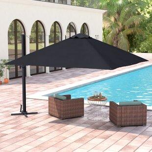 Brayden Studio Grote Liberty Aluminum 10' Square Cantilever Umbrella
