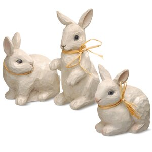 3 Piece Bunny Sculpture Set