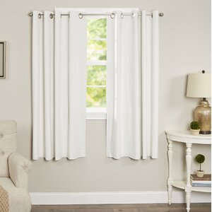 Morrison Solid Max Blackout Thermal Grommet Single Curtain Panel