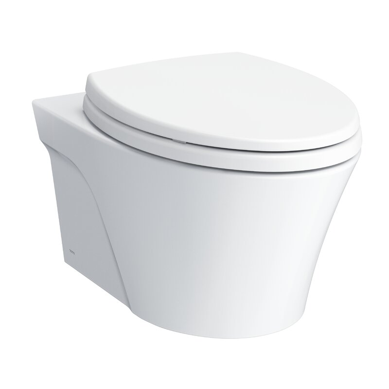 Toto Ap Wall Hung Elongated Toilet Bowl With Skirted Design And Cefiontect Perigold