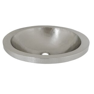 Native Trails, Inc. Hibiscus Metal Oval Drop-In Bathroom Sink