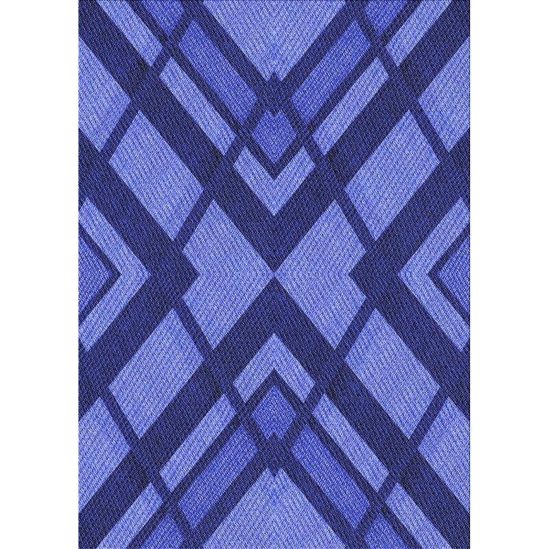 East Urban Home Kilgore Geometric Wool Blue Area Rug Wayfair