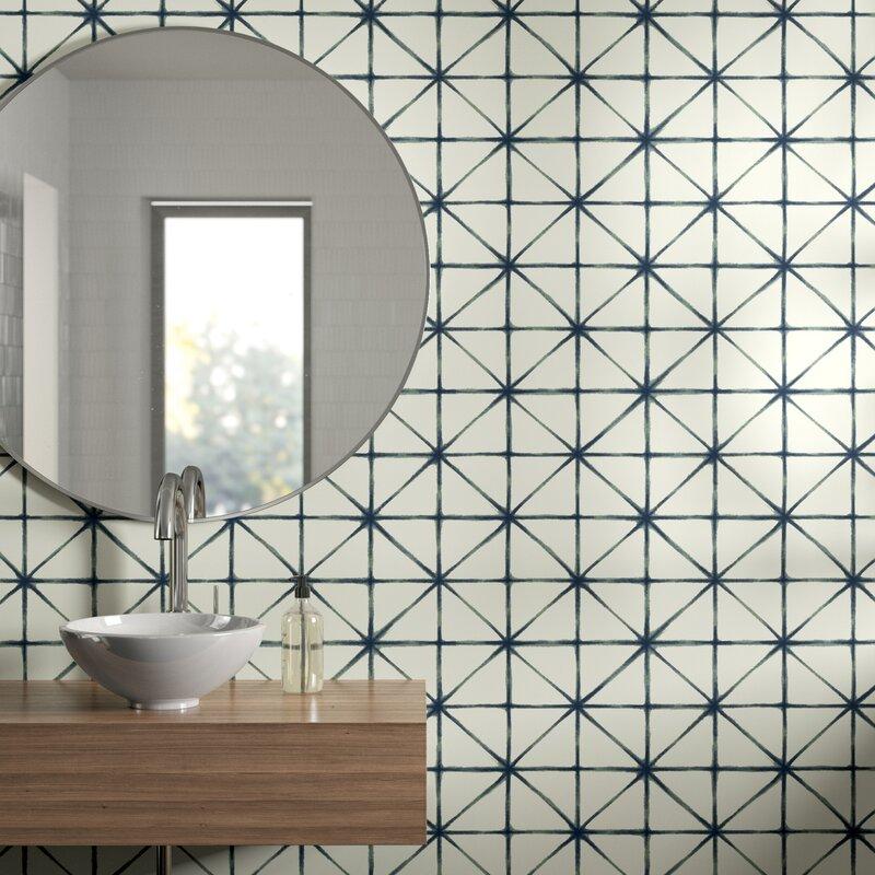 Eila Modern 16 5 L X 20 5 W Geometric Peel And Stick Wallpaper Roll Reviews Allmodern