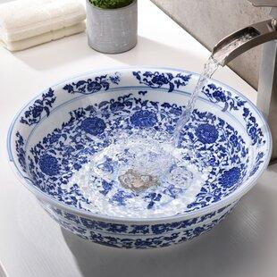 ANZZI Cadence Glass Circular Vessel Bathroom Sink