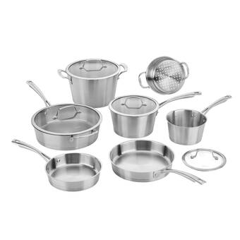 Old Dutch International 36 Piece Kitchen In A Box Stainless Steel Cookware Set