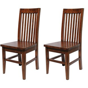 Caspian Slat Solid Wood Dining Chair (Set of 2)