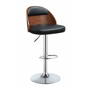 Nathaniel Adjustable Height Swivel Bar Stool George Oliver