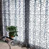 Pastoral Floral Tulle Voile Window Curtains