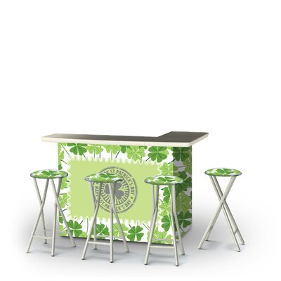 Wittrock St Patricks Day Four Leaf Clovers 5-Piece Bar Set by East Urban Home Best Design