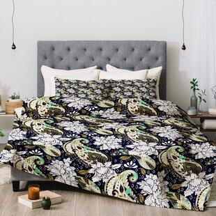 Marta Barragan Camarasa Paisley Bloom Comforter Set by East Urban Home